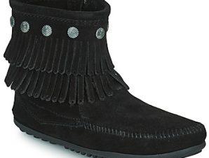 Μπότες Minnetonka DOUBLE FRINGE SIDE ZIP BOOT