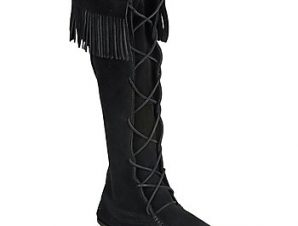 Μπότες για την πόλη Minnetonka FRONT LACE HARDSOLE KNEE HI BOOT