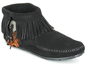 Μπότες Minnetonka CONCHO FEATHER SIDE ZIP BOOT